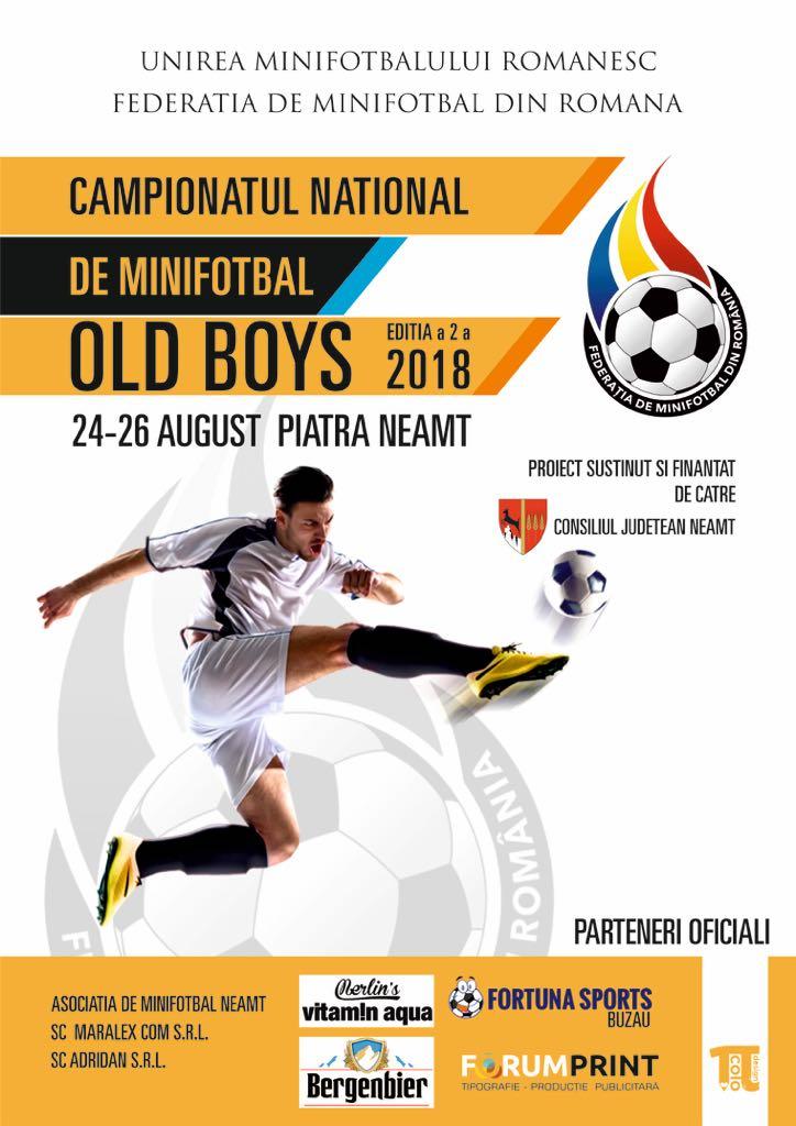 Tragerea la sorți, Campionatul Național de Old Boys, vineri ora 16:00