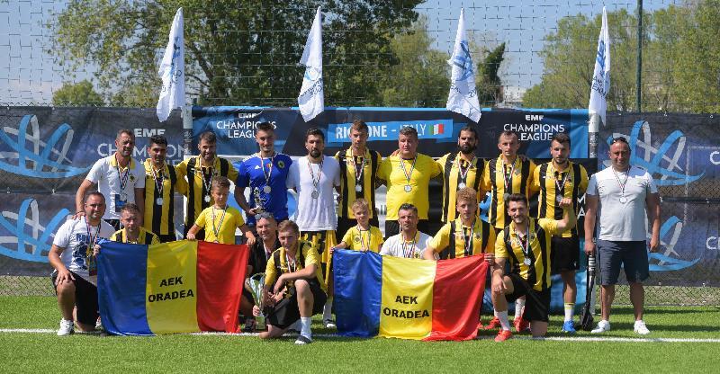 AEK Oradea - argint la EMF Champions League 2021!