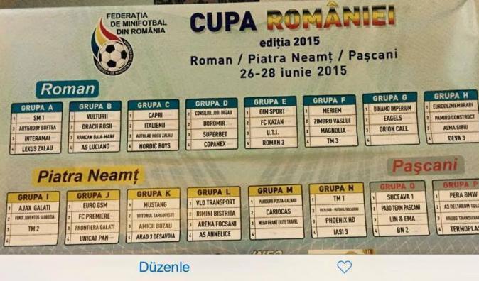 Cupa Romaniei - Piatra Neamt = informatii