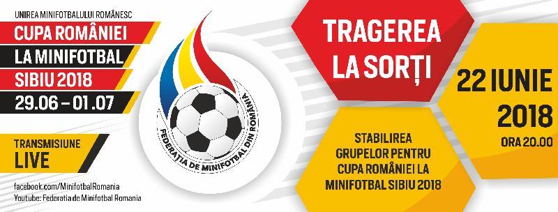 Tragerea la sorți a grupelor Cupei României de la Sibiu are loc vineri