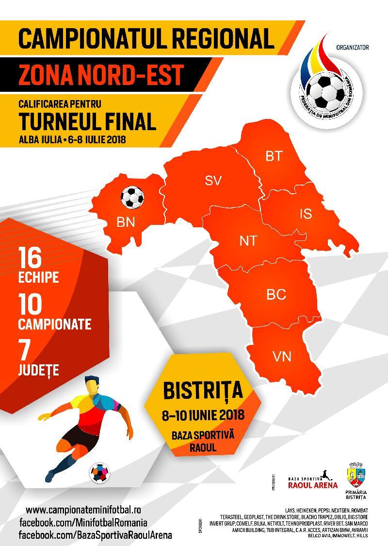 Organizare și sistem de desfășurare, Campionat Regional Nord-Est, Bistrița