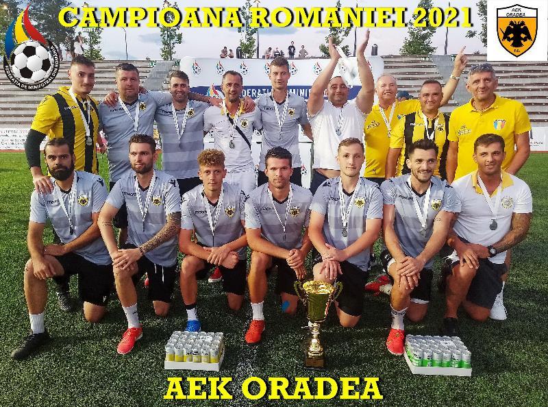 AEK Oradea, noua campioană a României!