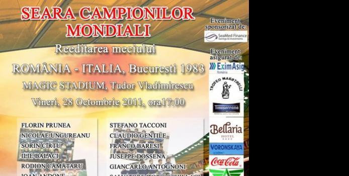 IASI: Fostii campioni mondiali ai Italiei vin la Iasi