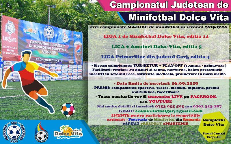 Inscrieri pentru campionatele de la Dolce Vita, până în 16 septembrie