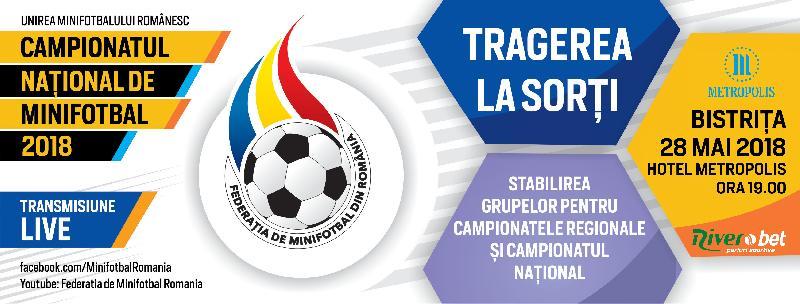 Tragerea la sorți a grupelor pentru Campionatele Regionale - 28 mai