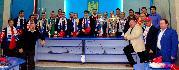 Prezentarea trofeelor nationalei la Roman