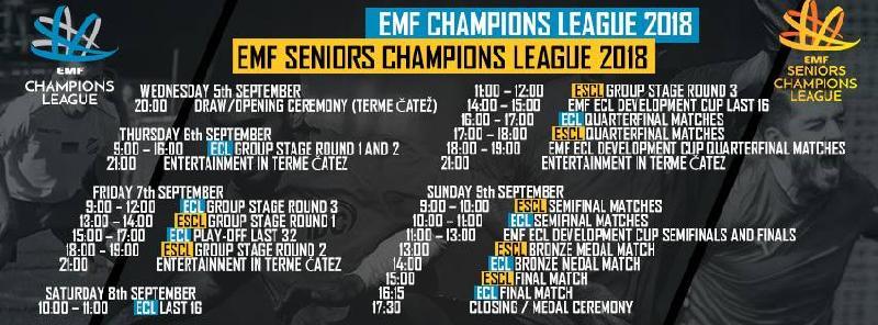 Loturile echipelor participante la EMF Champions League
