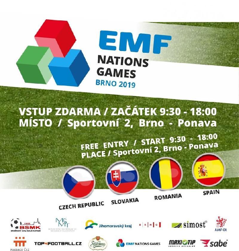 Lotul și programul naționalei României la EMF Nations Games, Brno, Cehia