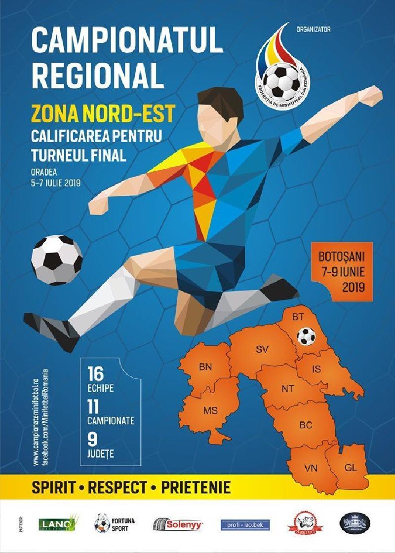 IASI: Campionatul Regional Nord- Est de la Botoșani: GRUPE SI PROGRAM