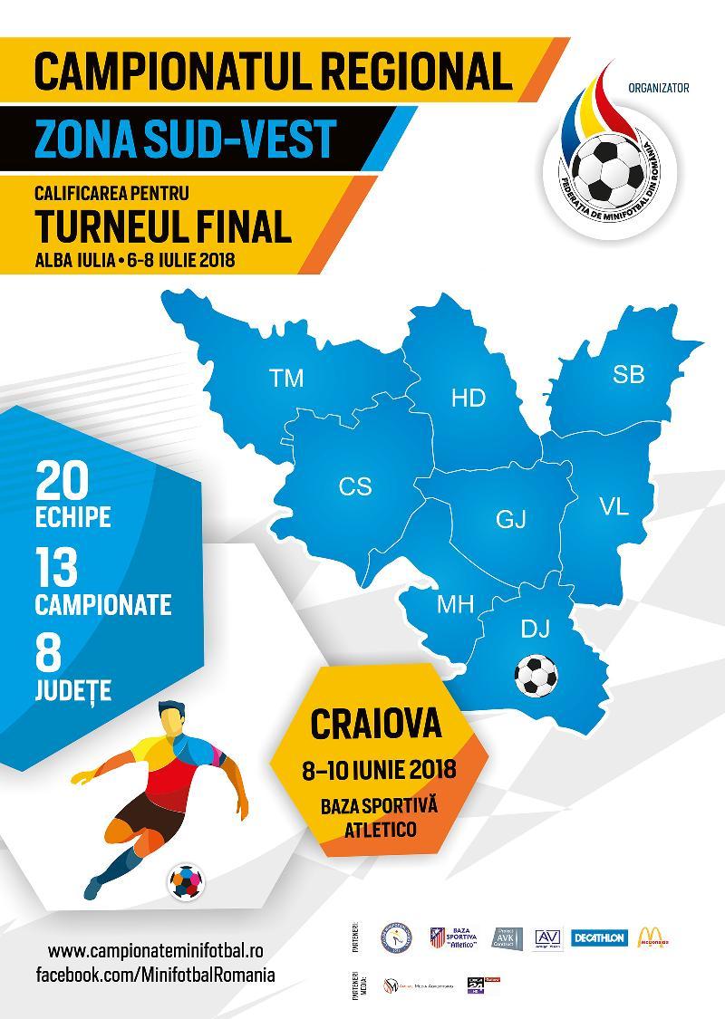 Organizare și sistem de desfășurare, Campionat Regional Sud-Vest, Craiova