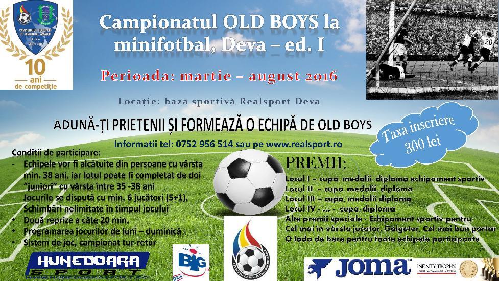 Campionatul de Old Boys, o noua competitie la Baza Realsport