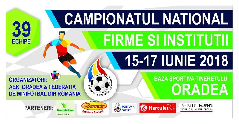 Componența grupelor și programul Campionatului Național al Firmelor