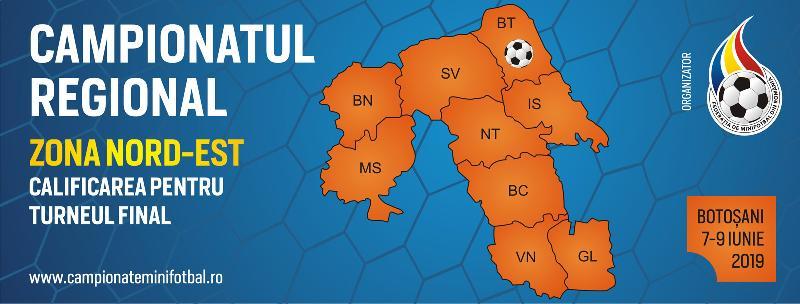 Comunicat - Campionatul Regional Nord-Est, Botoșani, 7-9 Iunie