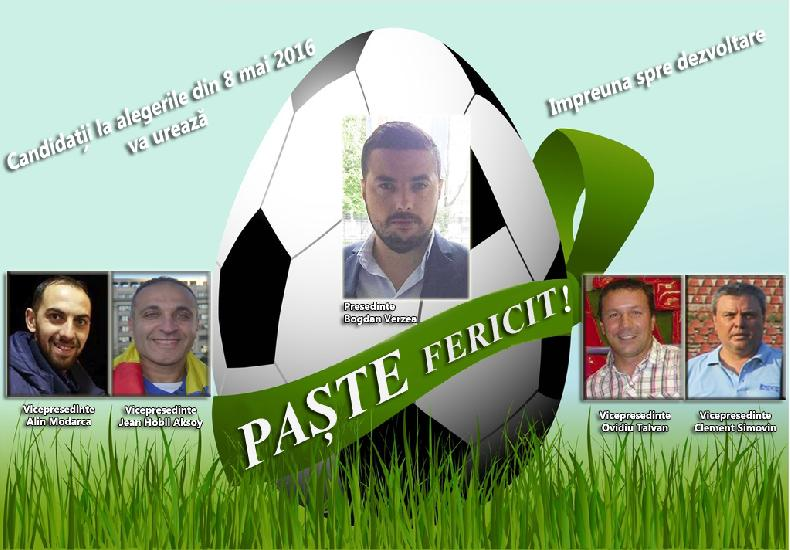 Candidatii la alegerile din data de 8 mai 2016 va ureaza Paste Fericit!
