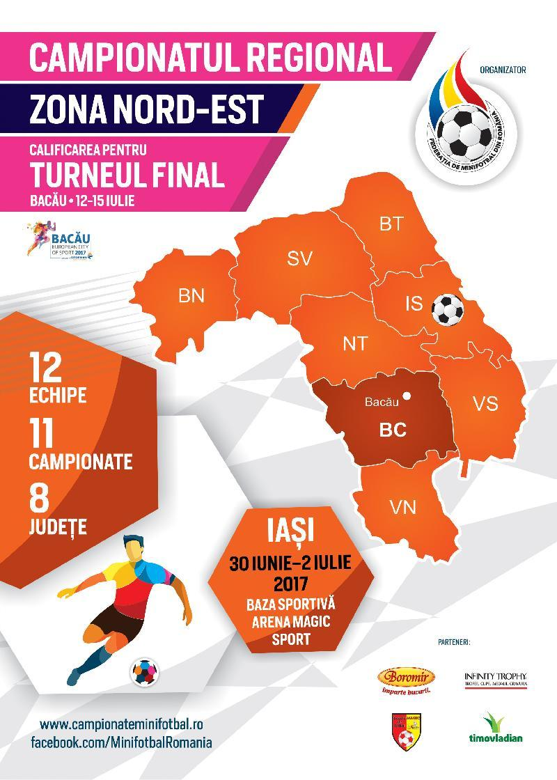 Țintarul jocurilor la Campionatul Regional Nord-Est de la Iași