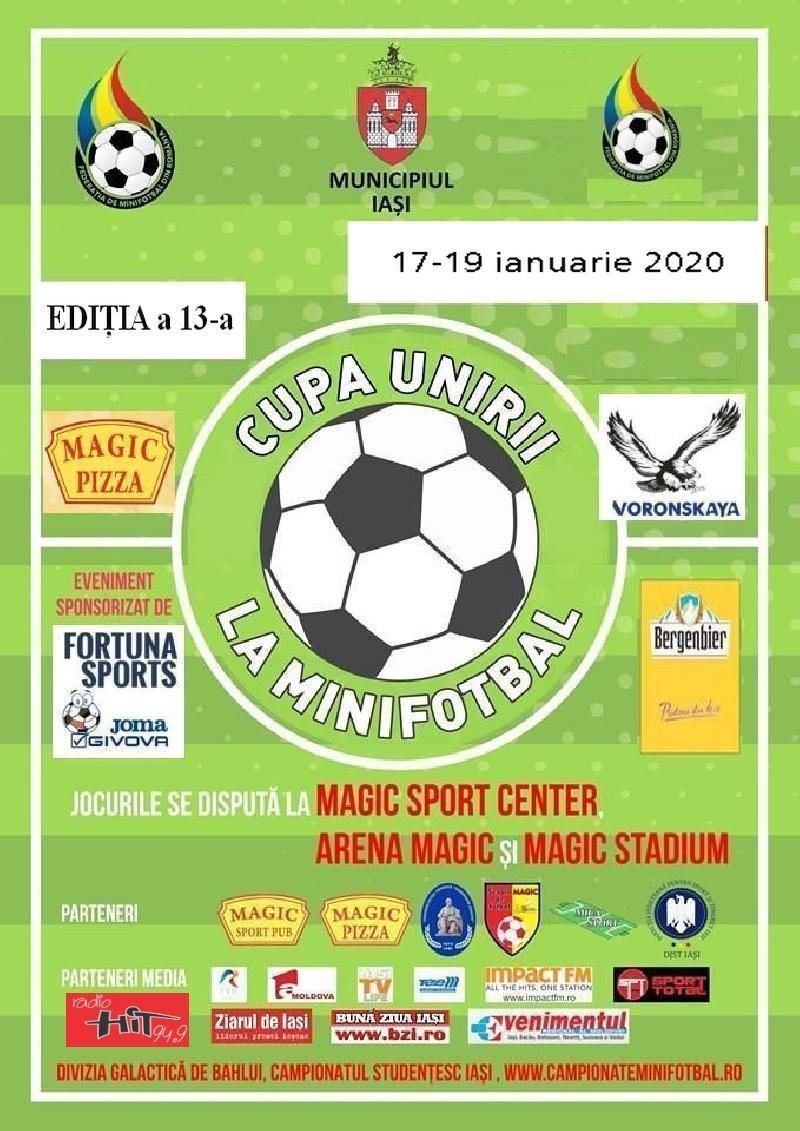 IASI: CUPA UNIRII la minifotbal, editia a 13-a, 17-19 ianuarie 2020