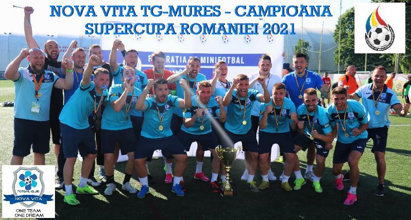 Nova Vita Târgu Mureș și-a trecut în palmares Supercupa României!