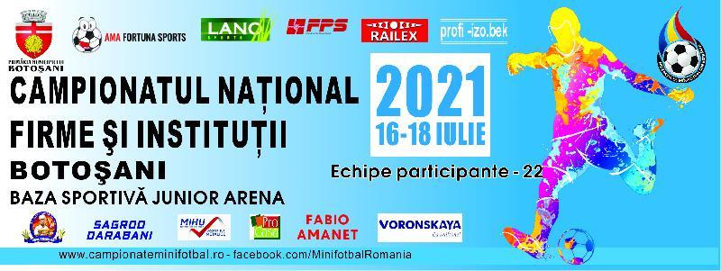 CNFI 2021 adună la start 22 de echipe. Meciurile încep vineri, 16 iulie