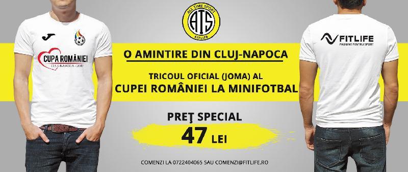 Tricouri promoționale, Cupa României, la prețul de 47 lei/bucata