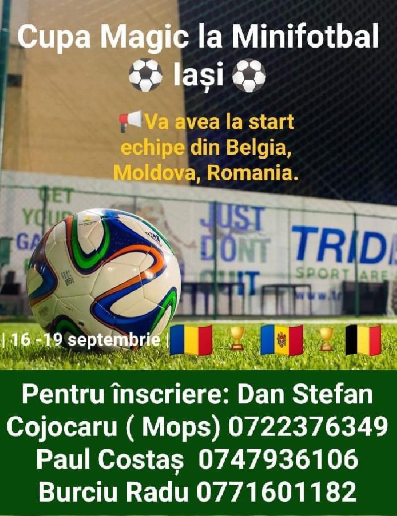 IASI: CUPA MAGIC - Se fac înscrieri pentru Cupa Magic la minifotbal