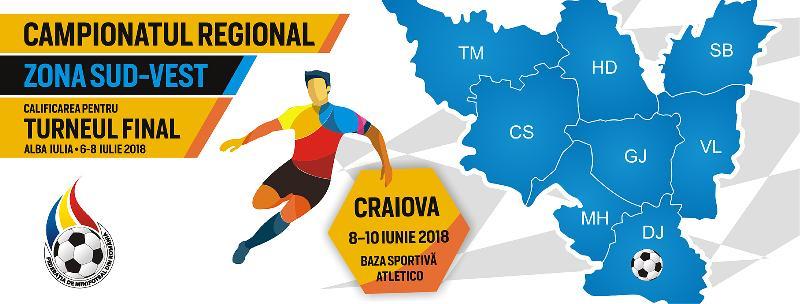 Programul complet al jocurilor de la Campionatul Regional Sud-Vest, Craiova