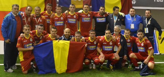ROMANIA va intalni UNGARIA si la minifotbal!