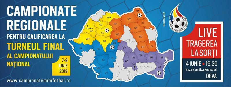 S-au tras la sorți grupele celor 4 Campionate Regionale