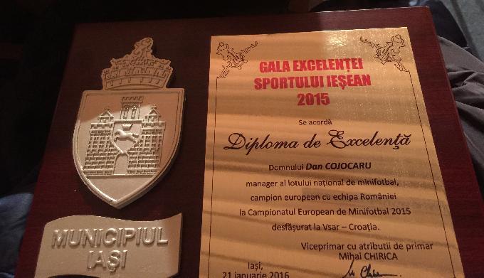 IASI: Minifotbalul, premiat la Gala Excelentei Sportului Iesean