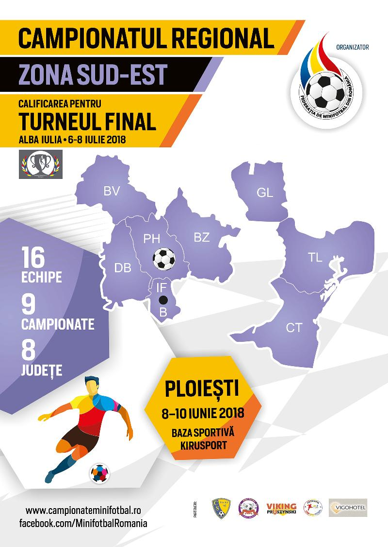 Organizare și sistem de desfășurare, Campionat Regional Sud-Est, Ploiești